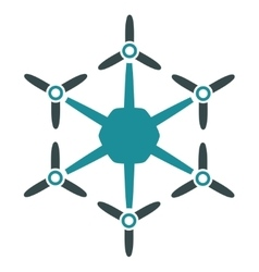 Hexacopter flat icon vector