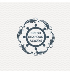 icon with shrimp vector image