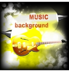Jazz guitar with lightening and sparks vector