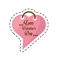 Love valentines day card heart shape bubble cut vector