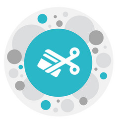 Of business symbol on cutting vector