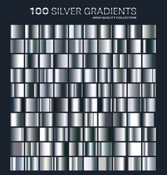 Silver gradientpatterntemplateset of colors for vector