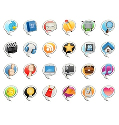 social media bubble icon vector image