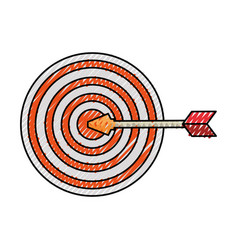 Target dartboard symbol vector