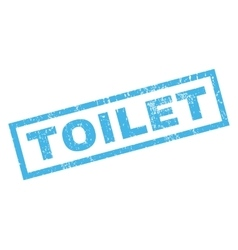Toilet rubber stamp vector