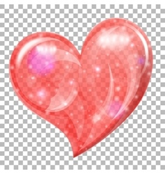 Transparent Valentines Day Heart vector image vector image
