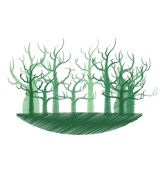 Tree forest branch hand drawing isolated icon vector