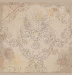 vintage damask grunge pattern ornament vector image
