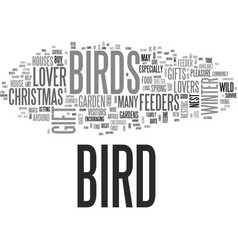 What gift can i give a bird lover this christmas vector