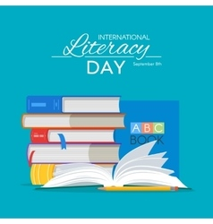International literacy day poster education vector