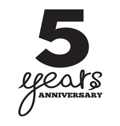 5 years anniversary vector