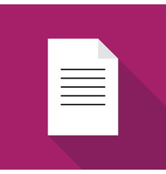 Document paper icon vector