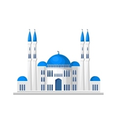 Muslim mosque icon isolated on white background vector