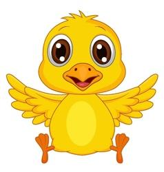 Cute baby chicken cartoon vector image