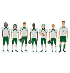 The young american football vector