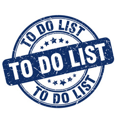 To do list stamp vector
