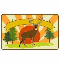 Vintage stag label vector