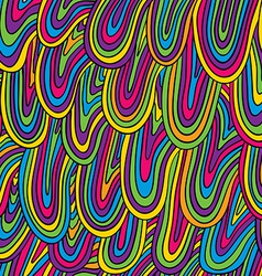 Funky style colorful seamless pattern vector