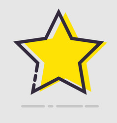 Abstract flat yellow star icon vector