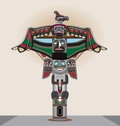 American Indian column vector image