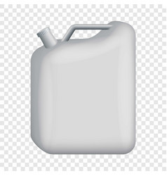 Blank jerrycan mockup realistic style vector