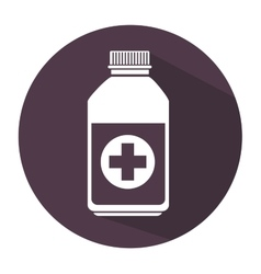 Bottle medicine care icon vector