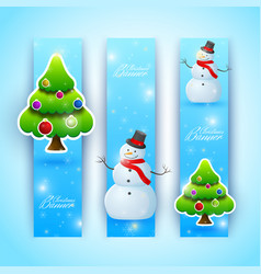 celebrating bright christmas vertical banners vector image vector image