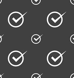Check mark sign icon checkbox button seamless vector
