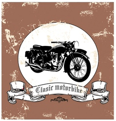 clasic motorbike vector image vector image