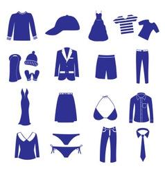 clothing icon set eps10 vector image