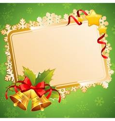 Decorative Christmas invitation postcard vector image vector image