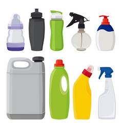 different types of bottles pictures in vector image vector image