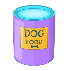 Dog food can icon cartoon style vector