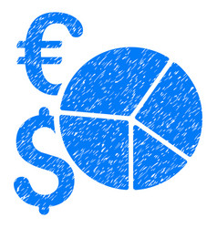 Financial pie chart grunge icon vector
