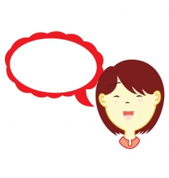 girl with dialog balloon vector image vector image
