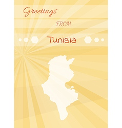 greetings from tunisia vector image vector image