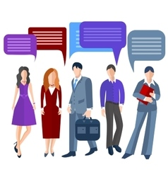 Group business people isolated men women girls vector image vector image