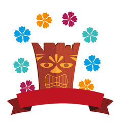Hawaii totem culture icon vector
