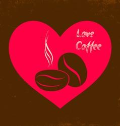 Love coffee vector image vector image