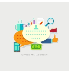 Office Management vector image vector image