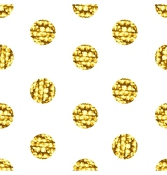 Seamless pattern with gold shine glitter dots on vector image