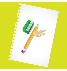 Sharpened pencil vector image vector image