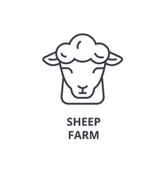 sheep farm line icon outline sign linear symbol vector image vector image