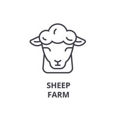 Sheep farm line icon outline sign linear symbol vector
