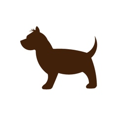 Small Dog silhouette vector image vector image