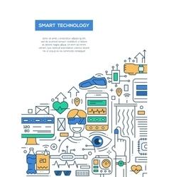 Smart Technology - line design brochure poster vector image vector image