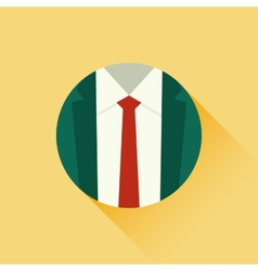 suit and red tie vector image