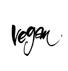 Vegan lettering template vector