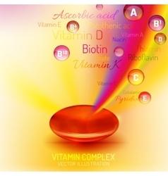 Vitamin Complex Capsule vector image