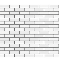 White brick wall seamless texture vector image